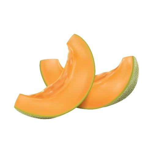 healthy fruit sliced cantaloupe on white background