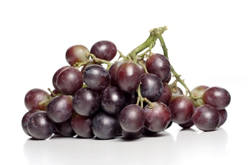 good for you red grapes on white background