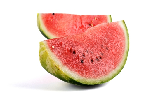 healthy fruit watermelon on white background