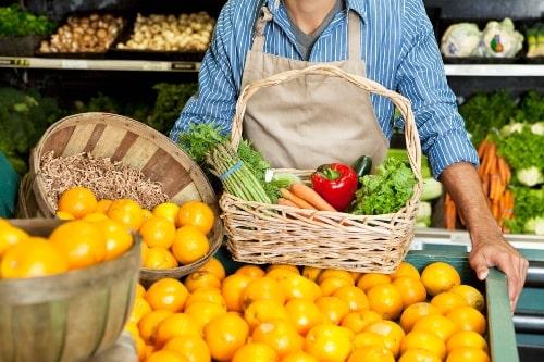 customer shopping organic food