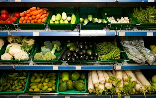 organic food in produce aisle perfect self care gift for new mom