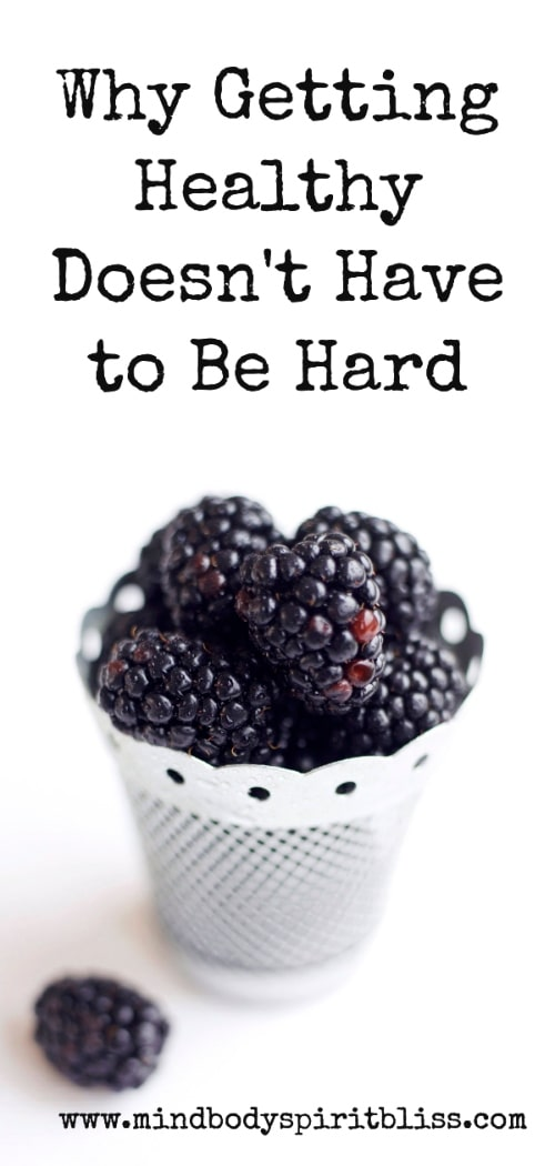 getting healthy not hard pin for pinterest