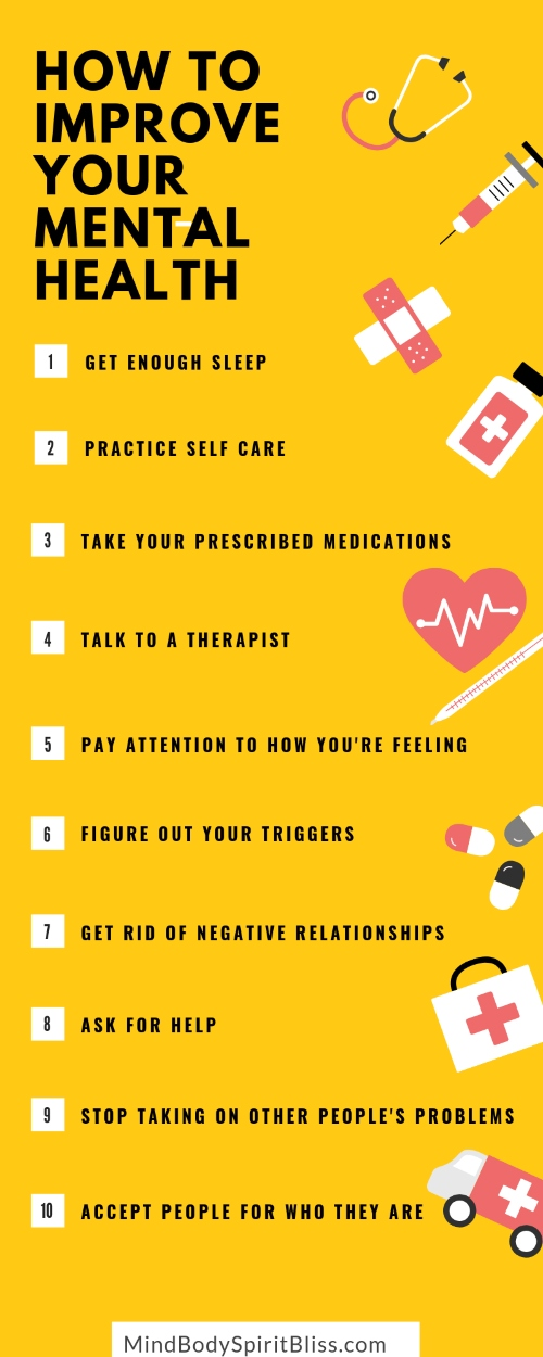How to improve your mental health infographic