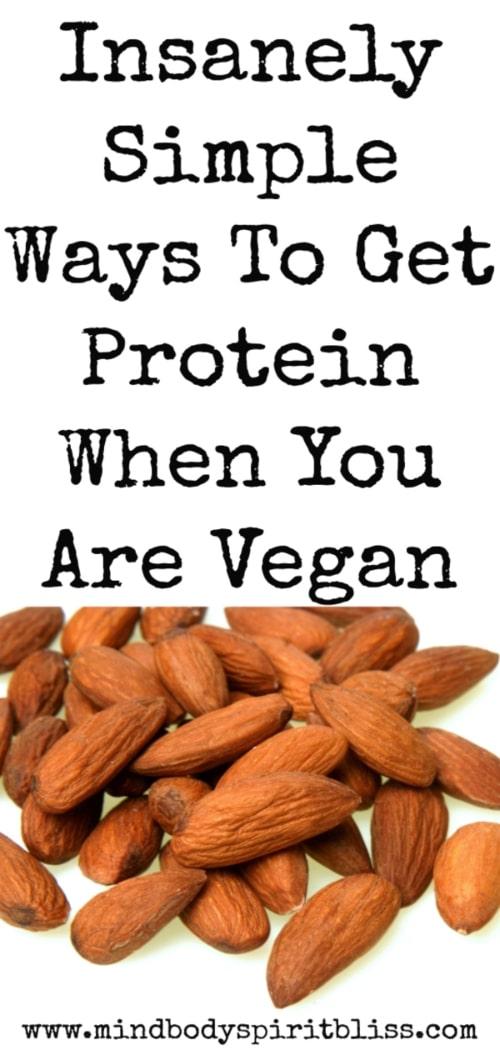 ways to get protein as a vegan pin