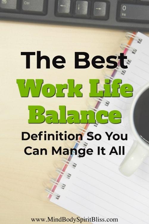 best work life balance definition