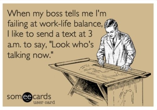 funny work life balance meme