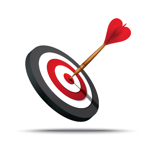 dart hitting middle of dart board