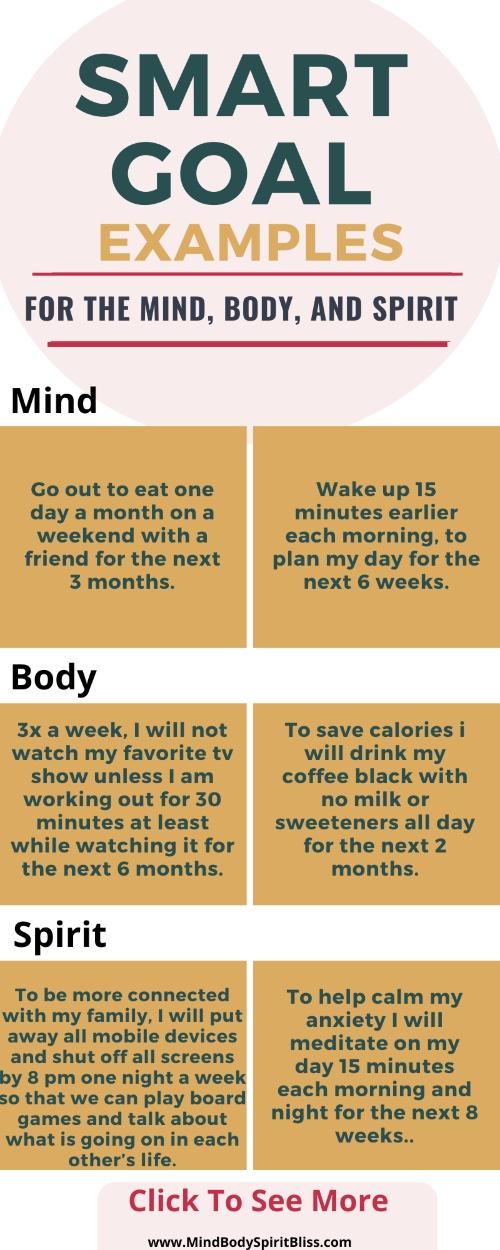 smart goals examples inforgraphic