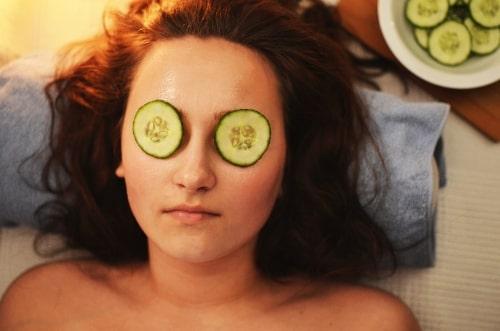woman wearing beauty mask