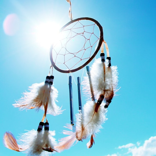 dream catcher facing the sky