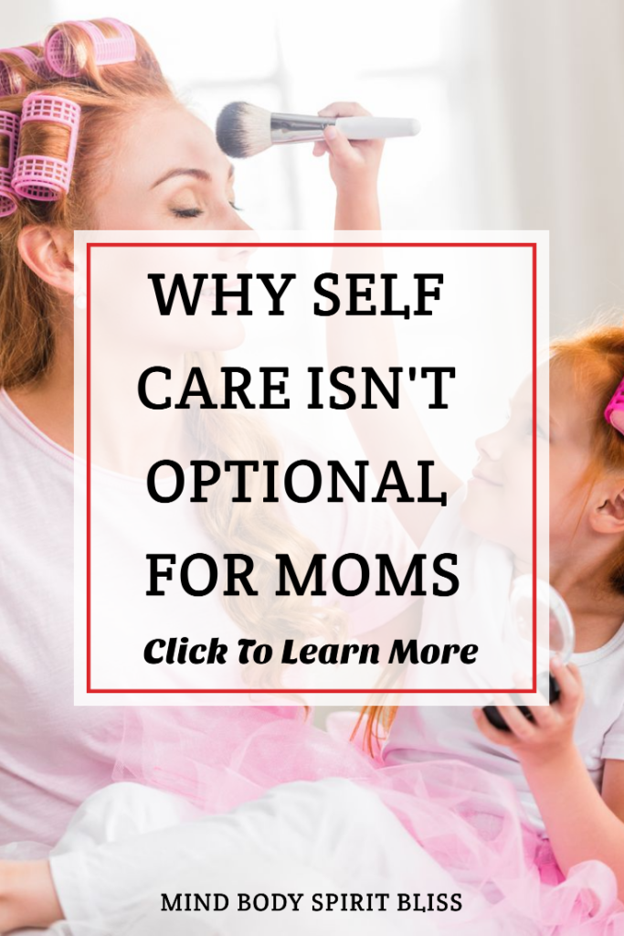why self care is important for moms pinterest pin